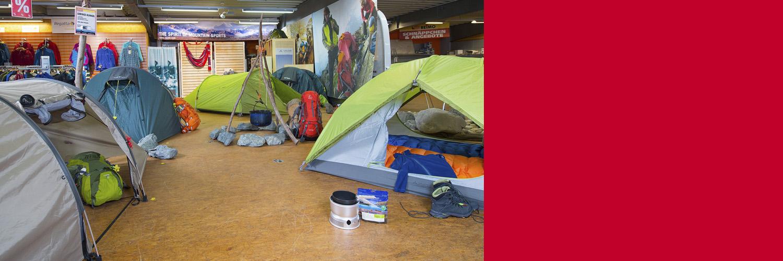 Travelshop und Campingshop: Campingausrüstung, Zelte